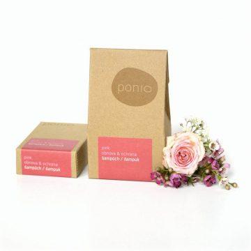 Prírodný tuhý šampón Ponio - Šampúch – Pink