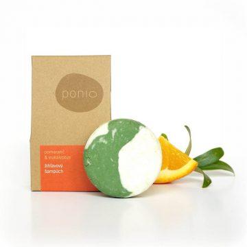 Prírodný tuhý šampón Ponio - Šampúch – Pomaranč & eukalyptus