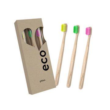 Darčeková sada bambusových zubných kefiek - Ecoheart 1