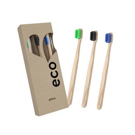 Darčeková sada bambusových zubných kefiek - Ecoheart 3